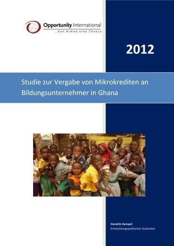 OID Studie_Mikrokredite für Bildungsunternehmer - Opportunity ...
