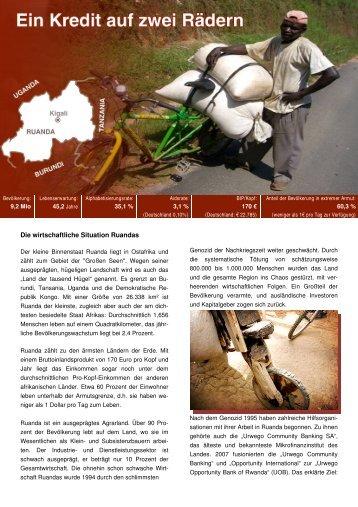 Das Opportunity-Projekt Kaffee-Räder für Ruanda