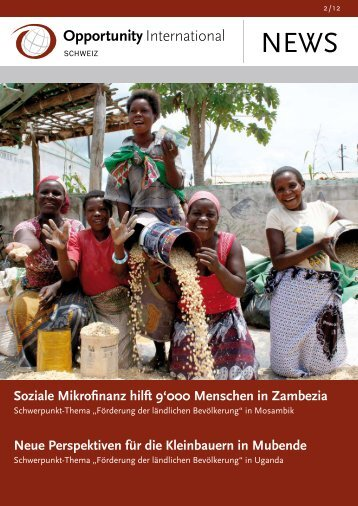 Soziale Mikrofinanz hilft 9'000 Menschen in Zambezia Neue ...
