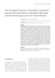 The Cartagena Protocol on Biosafety: interaction between the ... - OIE