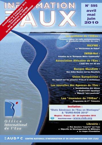N° 595 avril mai juin 2010 - Office International de l'Eau