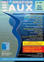 Lire le n° 586 - Office International de l'Eau
