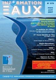 Lire le n° 579 - Office International de l'Eau