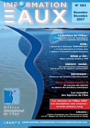 Lire le n° 583 - Office International de l'Eau