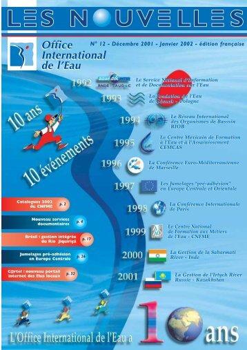 N°12 - Décembre 2001 - Janvier 2002 - Office International de l'Eau