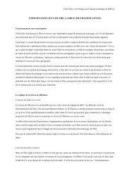 exploitation d'un filtre a sable (filtration lente) - Office International de ...