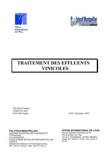 traitement des effluents vinicoles - Office International de l'Eau