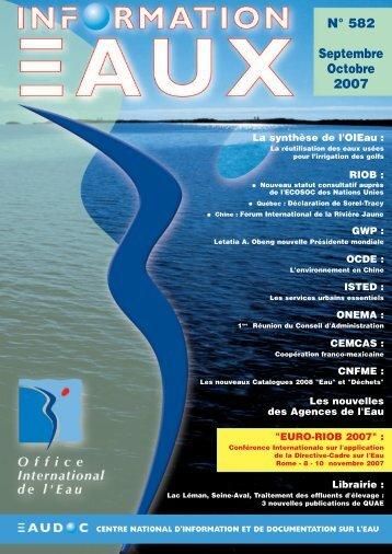 Lire le n° 582 - Office International de l'Eau
