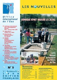N° 9 - 1er Semestre 1998 - Office International de l'Eau