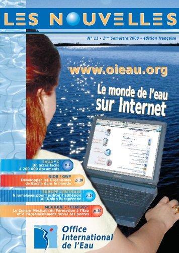 N°11 - 2nd semestre 2000 - Office International de l'Eau