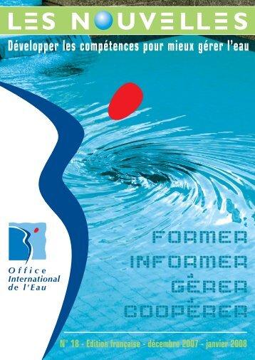 N°18 Décembre 2007 - Janvier 2008 - Office International de l'Eau