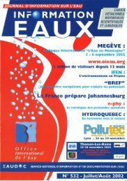 Lire le n° 532 - Office International de l'Eau