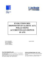 evolution des dispositifs d'alerte aux pollutions accidentelles depuis ...