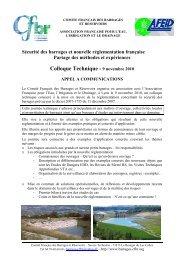CFBR Colloque 2010 Sécurité des barrages - Appel à comm' …