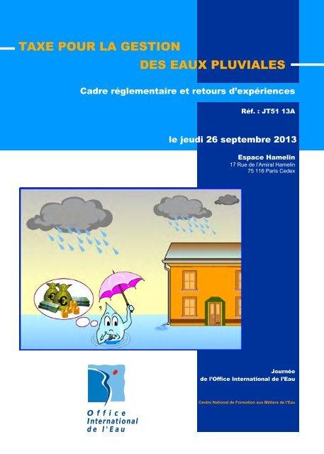 taxe pour la gestion des eaux pluviales - Office International de l'Eau