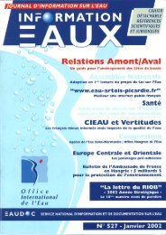 Lire le n° 527 - Office International de l'Eau