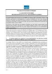 Document d'orientation stratégique sur la gestion intégrée des ...