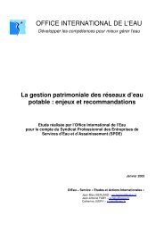 Le rapport - Office International de l'Eau
