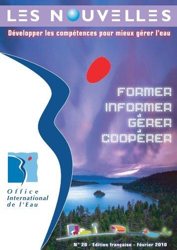 Les Nouvelles de l'OIEau n° 20 - Office International de l'Eau