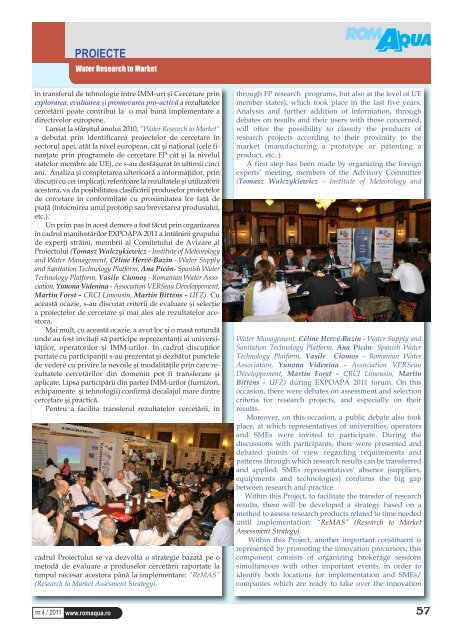 vol 76 n° 4 2011 - Office International de l'Eau