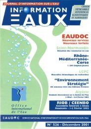 Lire le n° 526 - Office International de l'Eau