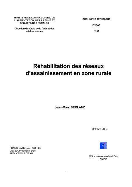 Réhabilitation des réseaux d'assainissement en zone rurale - Office ...