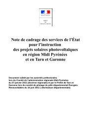 Note de cadrage des services de l'État pour l ... - Aquadoc France