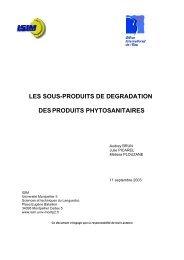 les sous-produits de degradation desproduits phytosanitaires