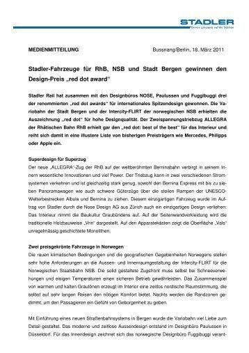 2011 03 18 stadler fahrzeuge gewinnen red dot award