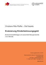 Evaluierung Kinderbetreuungsgeld - Österreichisches Institut für ...