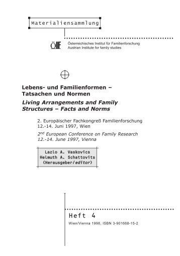 Lebens- und Familienformen - Tatsachen und Normen