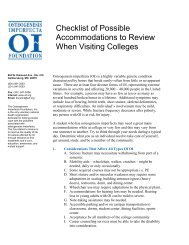 Checklist for College Accommodations - Osteogenesis Imperfecta ...