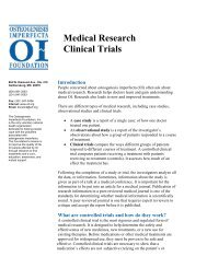 Medical Research Clinical Trials - Osteogenesis Imperfecta ...