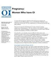 Pregnancy: Women Who have OI - Osteogenesis Imperfecta ...