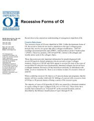 Recessive Forms of OI - Osteogenesis Imperfecta Foundation