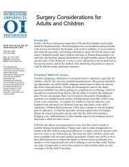 Surgery Considerations for Adults and Children - Osteogenesis ...