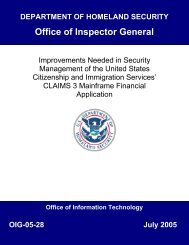Improvements Needed in Security Management of the United Stated ...
