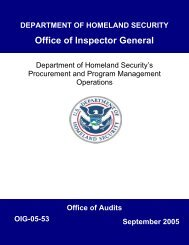 Department of Homeland Security's Procurement and Program ...