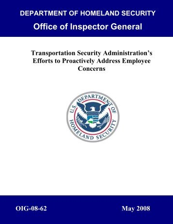 Transportation Security Administration's Efforts to Proactively ...