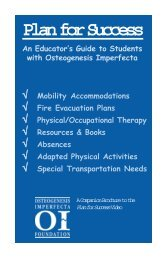 Plan for Success - Osteogenesis Imperfecta Foundation