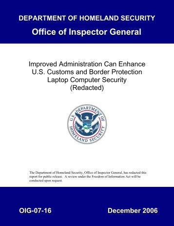 Improved Administration Can Enhance U.S. Customs and Border ...