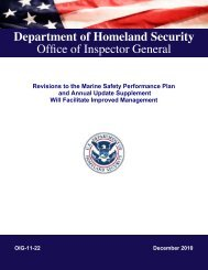 Revisions to the Marine Safety Performance Plan and Annual ...