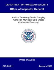 Audit of Screening Trucks Carrying Canadian Municipal Solid Waste ...