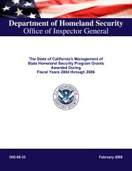 The State of California Management of State Homeland Security ...