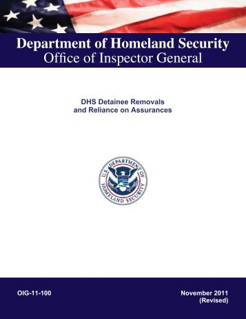 DHS Detainee Removals and Reliance on Assurances - Office of ...