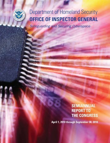 Management Reports Issued - Office of Inspector General ...