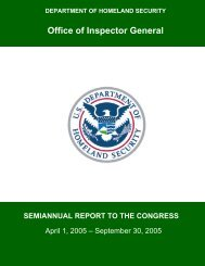 HSDN Review - Office of Inspector General - Homeland Security