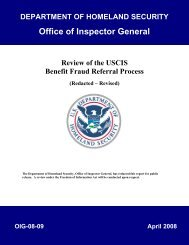OIG-08-09 - Review of the USCIS Benefit Fraud Referral Process ...