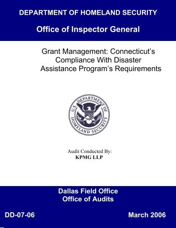 Grant Management - Office of Inspector General - Homeland Security