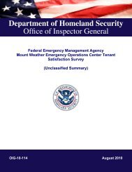 Federal Emergency Management Agency Mount Weather ...
